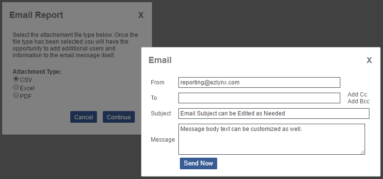 EZLynx Reporting - Email a Report