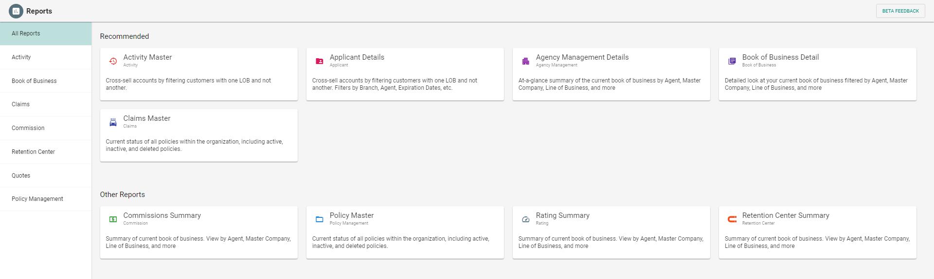 New EZLynx Reporting Platform